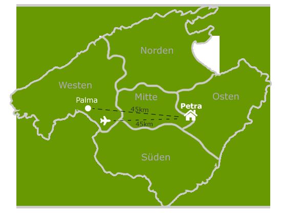 Map Mallorca Finca Son Canals